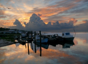 Oyster Boats, Eastpoint, Florida, USA